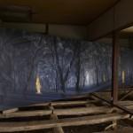 加茂昂 「森に入る」 油彩・キャンバス (対馬市役所隣接古民家「青柳邸」にて展示)