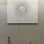 七搦 綾乃 「島なるもの」 樺、紙、インク (対馬歴史民俗資料館にて展示)